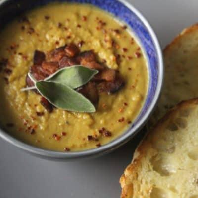 Delicata and Carnival Squash Soup