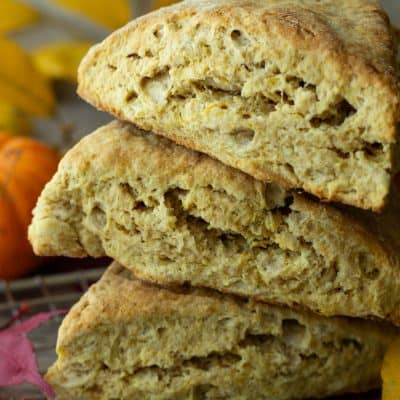 Pumpkin Scones with Maple Thyme Butter