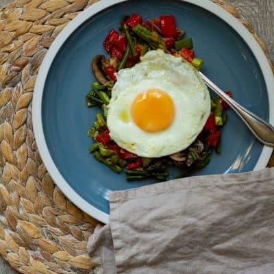 Roasted Vegetable Breakfast Hash