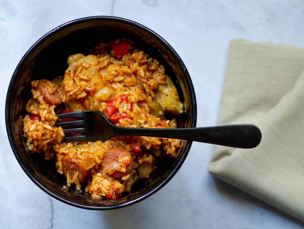 bowl of jambalaya