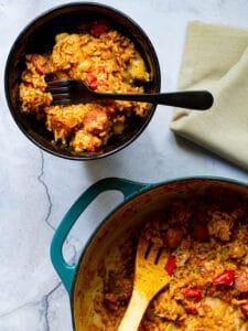 One Pot Chicken and Sausage Jambalaya
