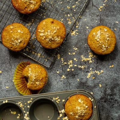 Peanut Butter, Banana, and Oat Muffins