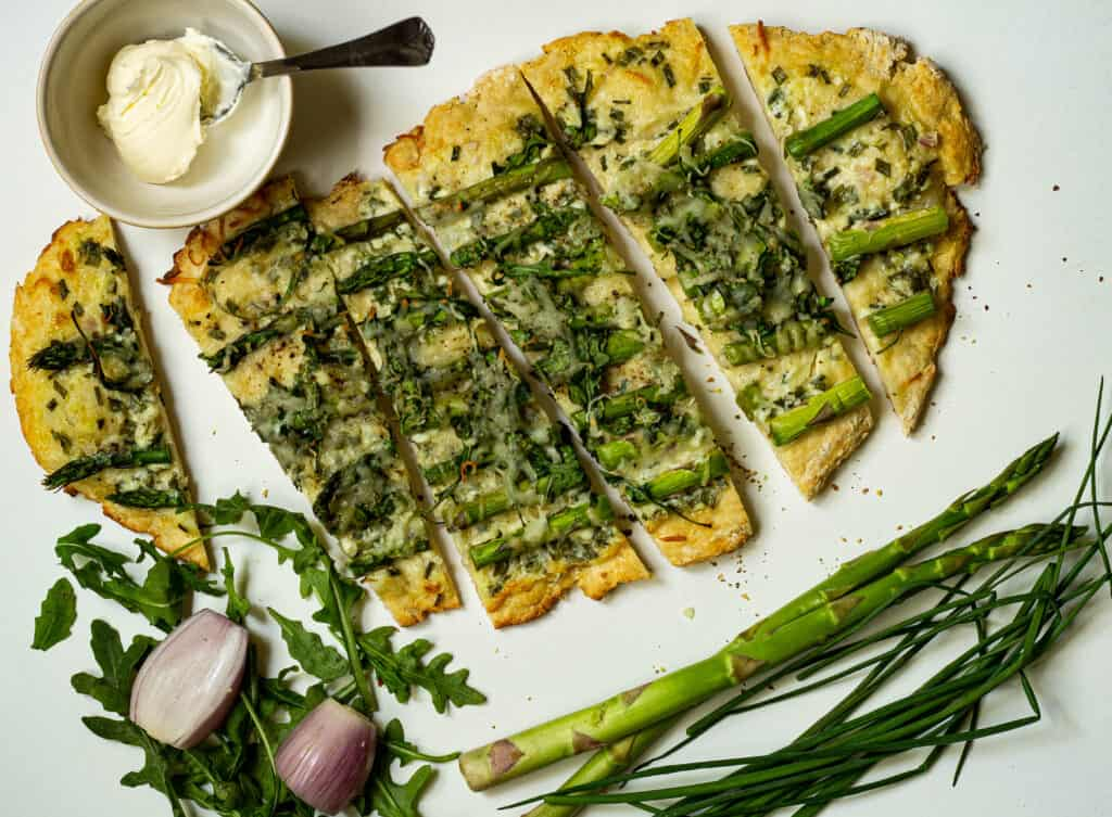 flatbread cut into slices