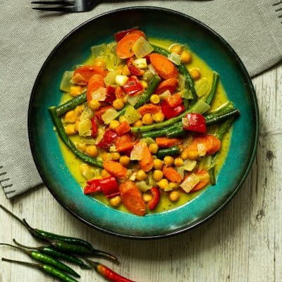 Thai Green Curry with Chickpeas