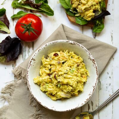 Curried Chicken Salad with Coconut