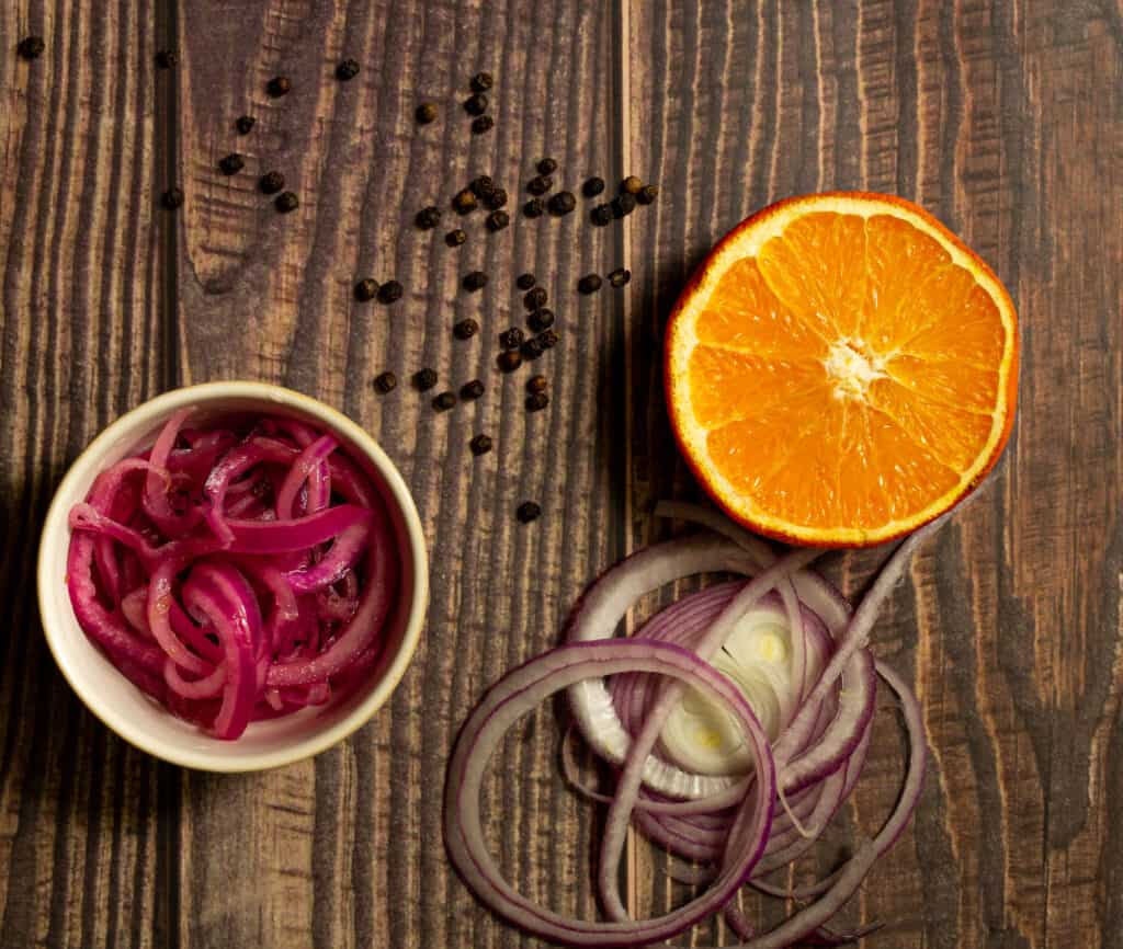 ingredients for pickled red onion