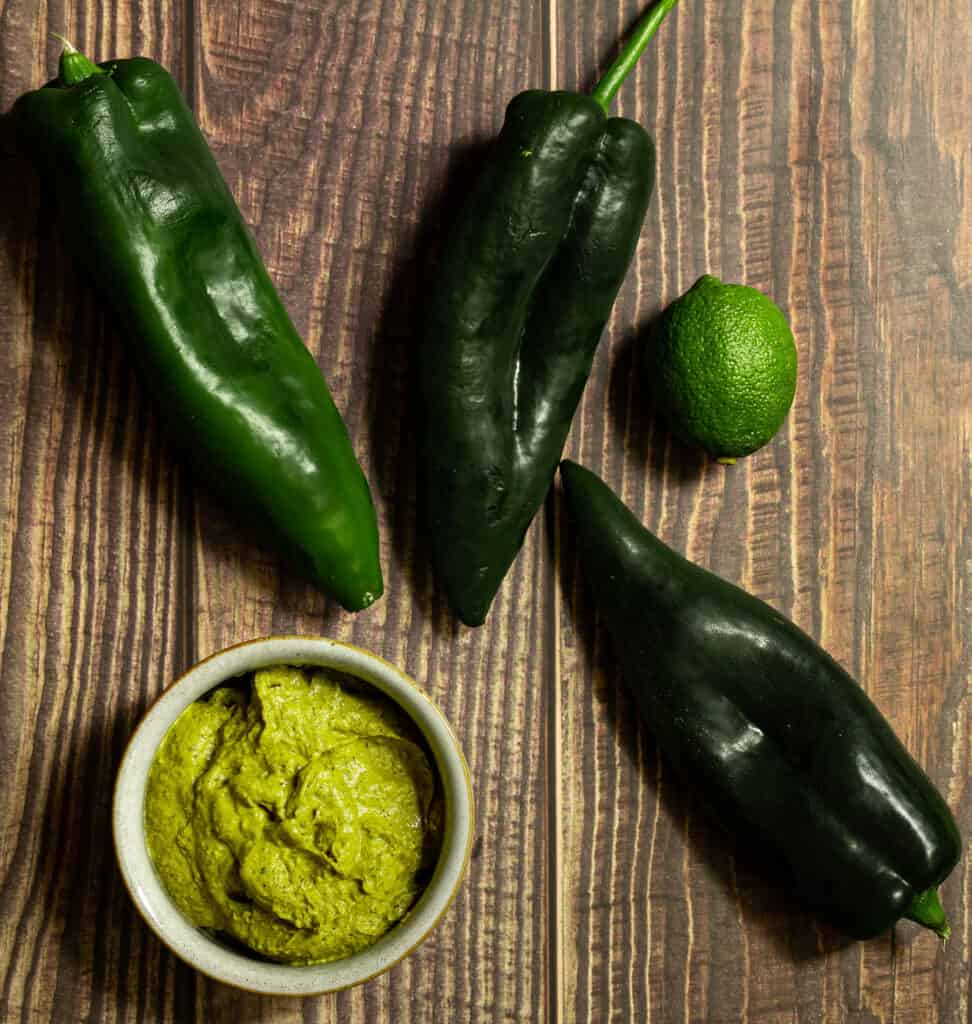 ingredients for poblano crema