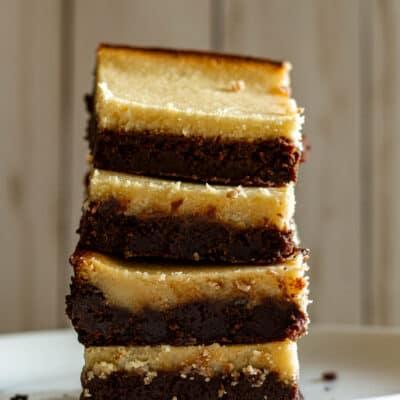 Dark Chocolate Goat Cheese Brownies with Honey