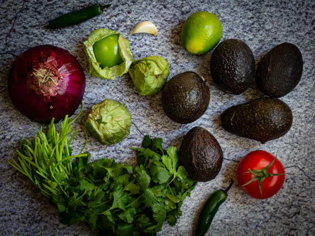 Photo of guacamole ingredients