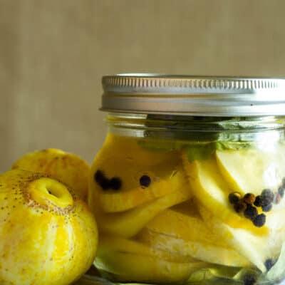 Easy Lemon Cucumber Pickles